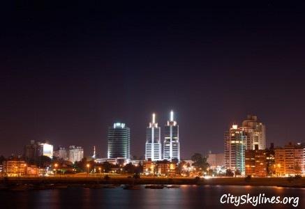 Montevideo Night Skyline
