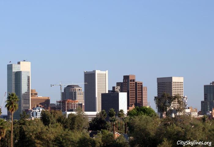 City of Phoenix Arizona Skyline