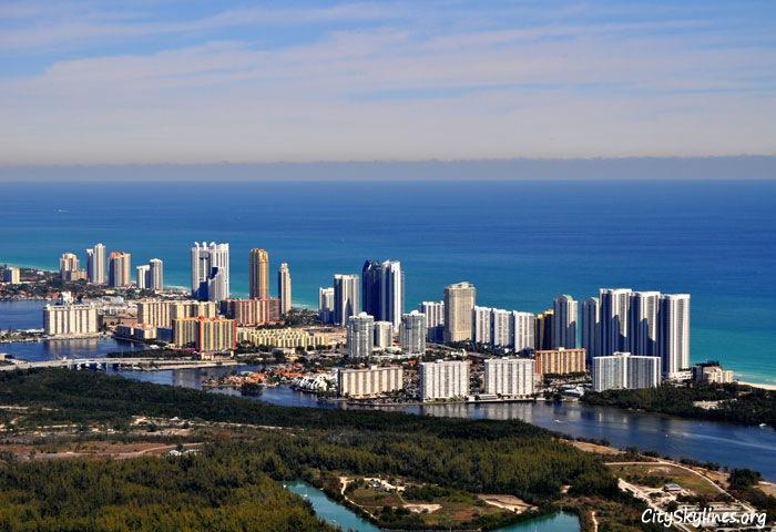 Sunny Isles Beach City Skyline, Florida