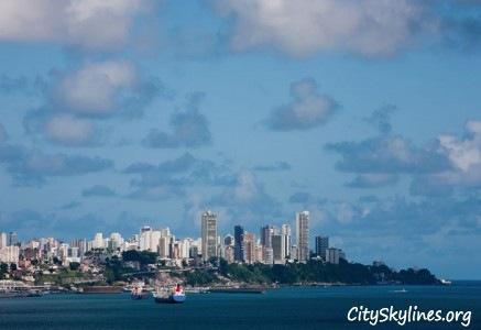 Salvador, Baía de Todos os Santos Bay Skyline