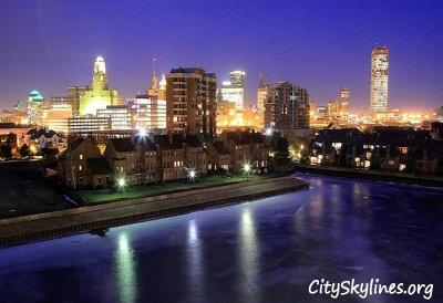 Buffalo, NY Skyline at Night