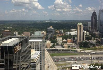 Stone Mountain from the 43rd floor Atlanta